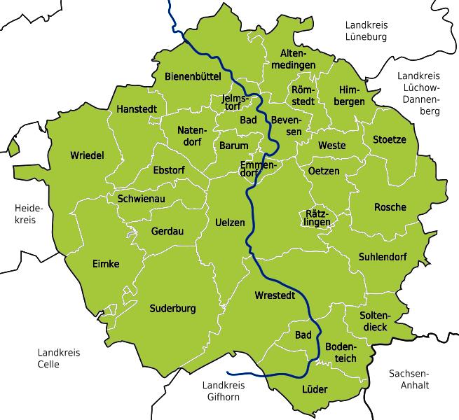 BE - Kreisgebiet Uelzen